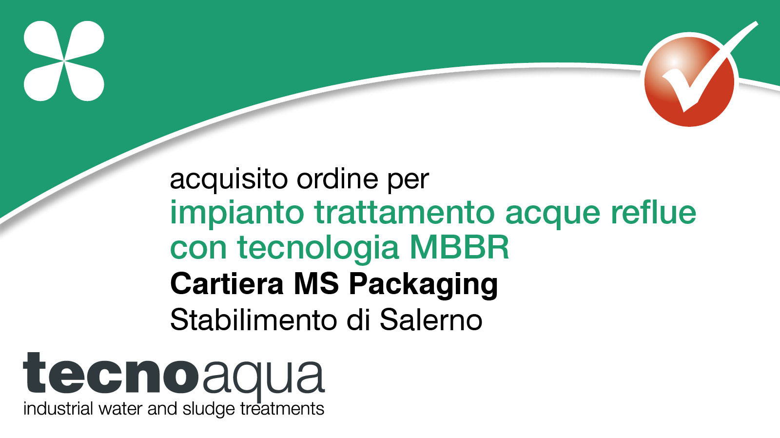 Impianto biologico MBBR Cartiera MS Packaging
